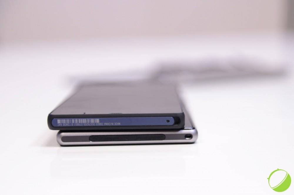 Sony Xperia Z en haut et Sony Xperia Z1 en bas