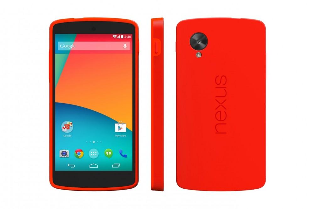 accessoire coque antichoc google nexus 5 officielle rouge 03