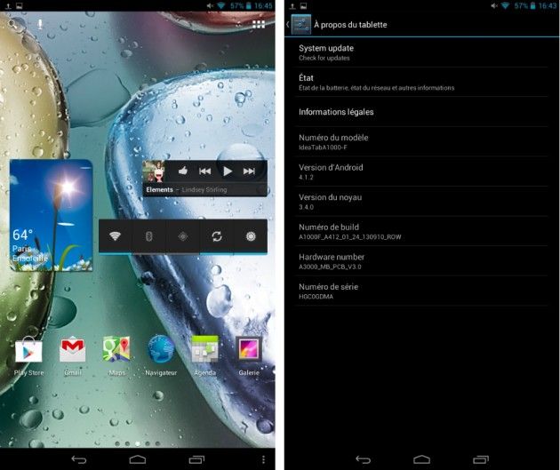 android 4.1.2 4.2.2 jelly bean lenovo ideatab a1000 a3000 logiciel internface 01