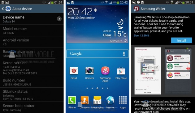 android 4.3 jelly bean samsung galaxy s4 gt-i9505