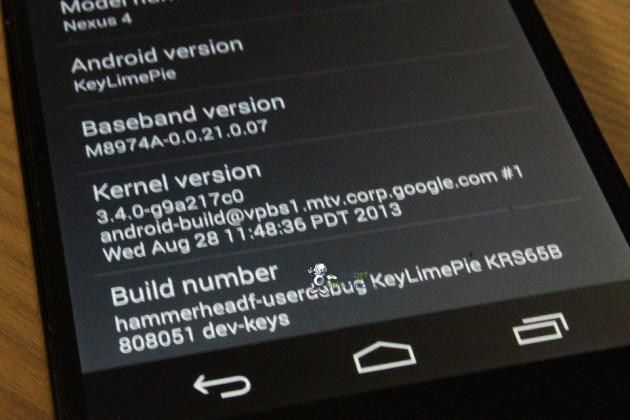 android 4.4 kitkat key lime pie capture d'écran 02