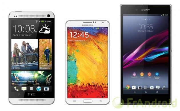 android comparatif comparaison comparateur compa htc one max samsung galaxy note 3 sony xperia z ultra