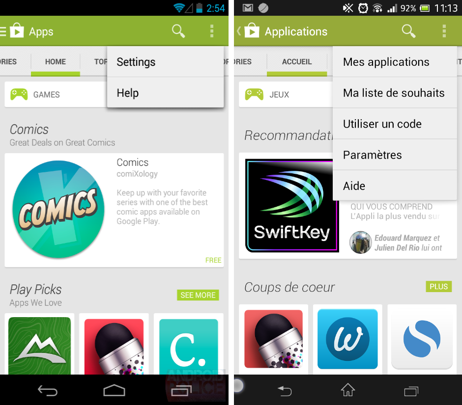 android google play store 4.4 vs play store 4.3.11 images 00