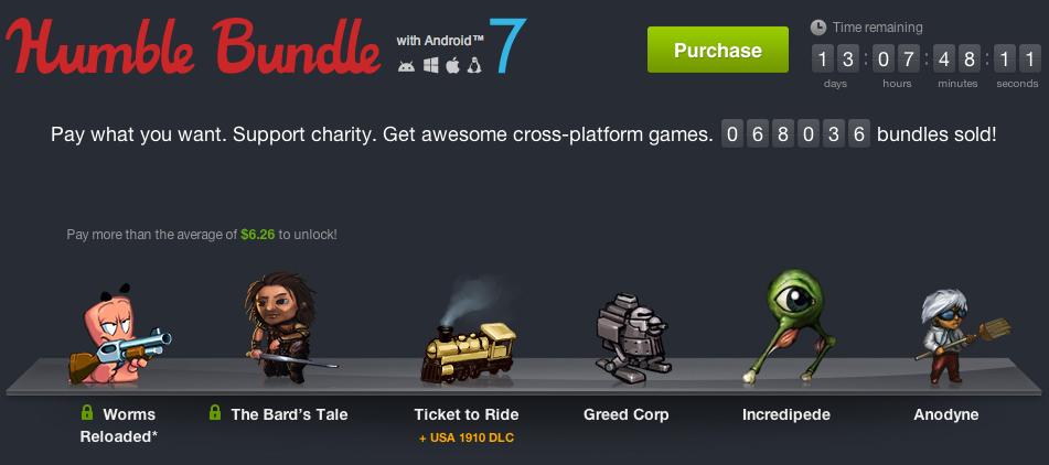 Humble Bundle for Android 7 débarque avec 6 jeux