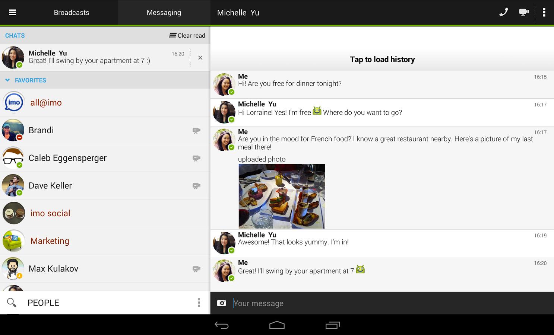 Imo messenger est maintenant disponible en 30 langues sur for Programme imo