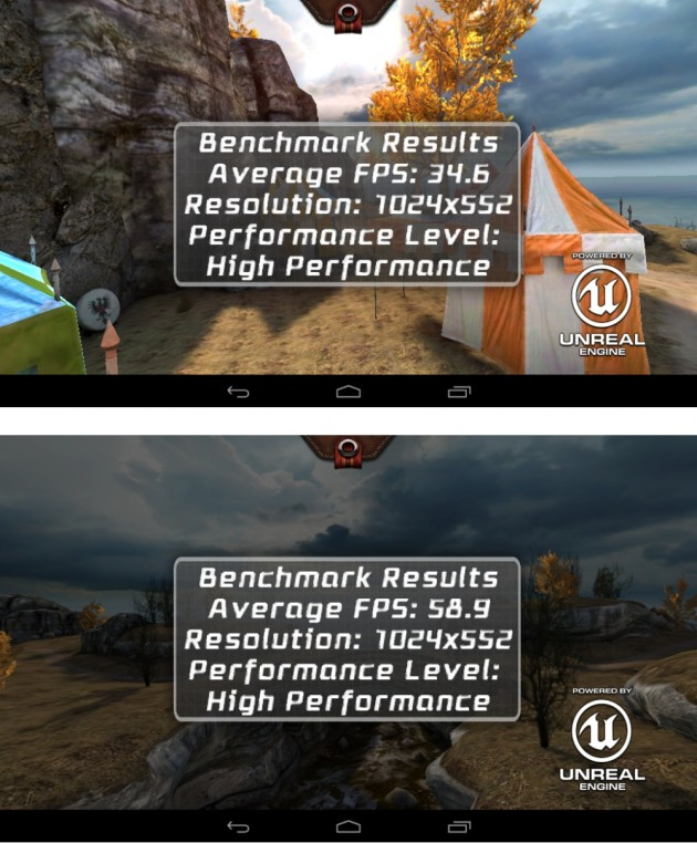 android lenovo ideatab a1000 vs a3000 benchmark epic citadel high performance 01