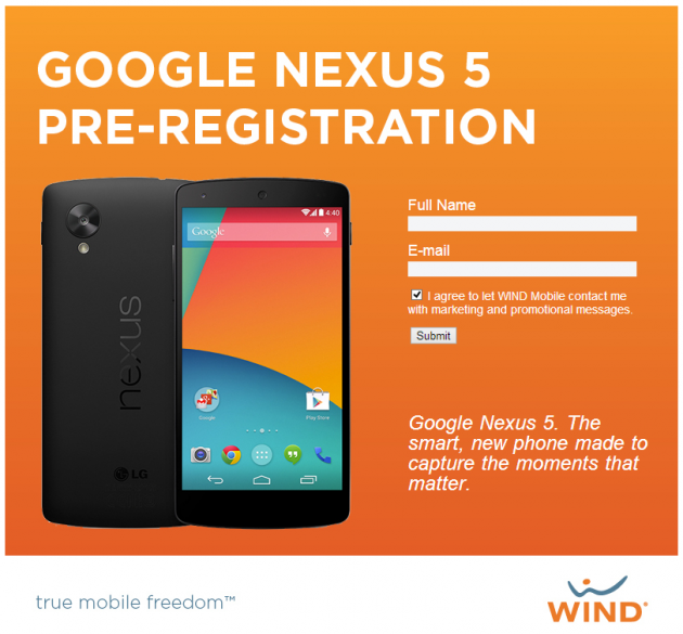android lg google nexus 5 wind mobile canada