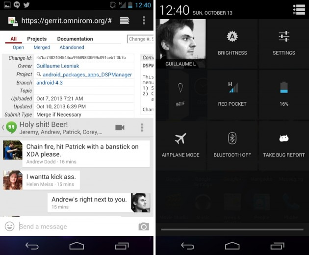 android omnirom omni rom captures d'écran 2
