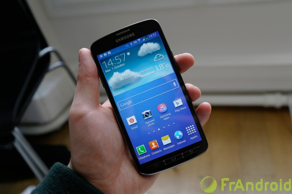 android samsung galaxy s4 active prise en main 02