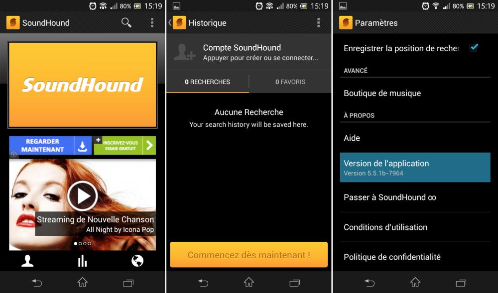 SoundHound, la création de compte s'invite sur la version 5 5 1
