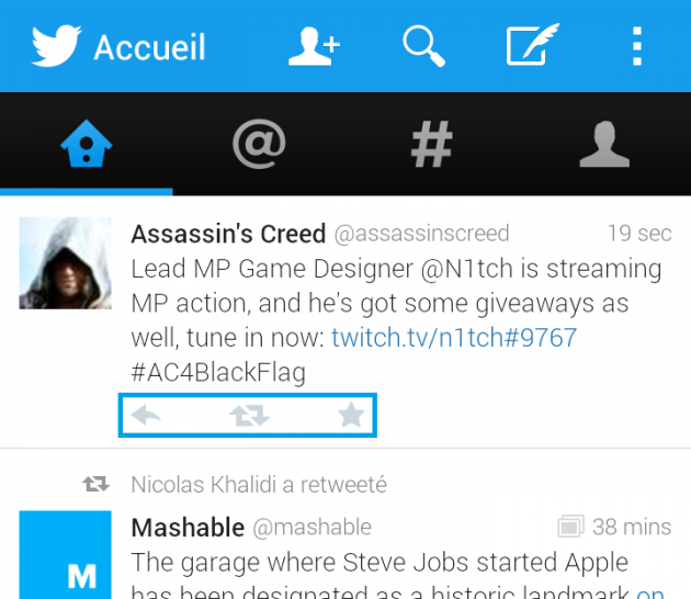 android twitter 4.1.9 retweet rt reply répondre favoris image 02