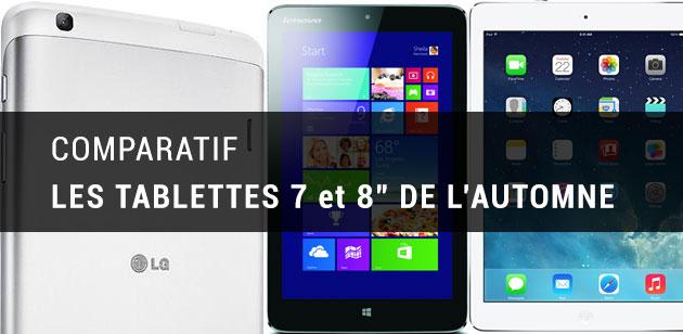 comparatif des nouvelles tablettes 7 et 8 pouces lg g pad 8 3 google nexus 7 2013 ipad. Black Bedroom Furniture Sets. Home Design Ideas