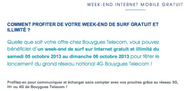 bouygues telecom week end lte 4g gratuit france 01