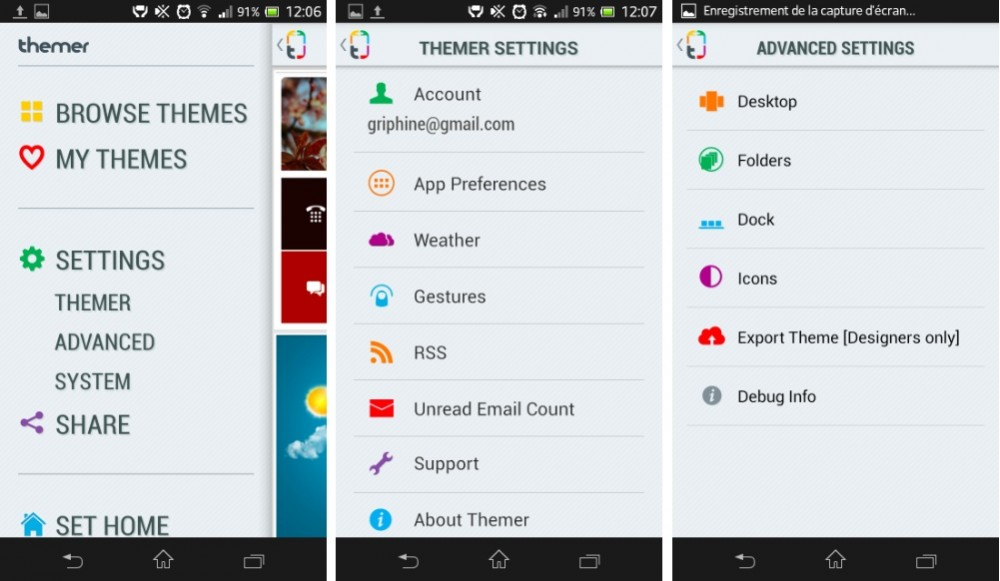 capture d'écran screenshot android themer beta image 02
