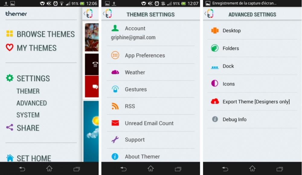 capture d'écran screenshot android themer beta image 02