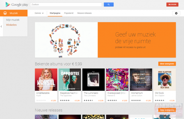 google play music all acces 7 news countries