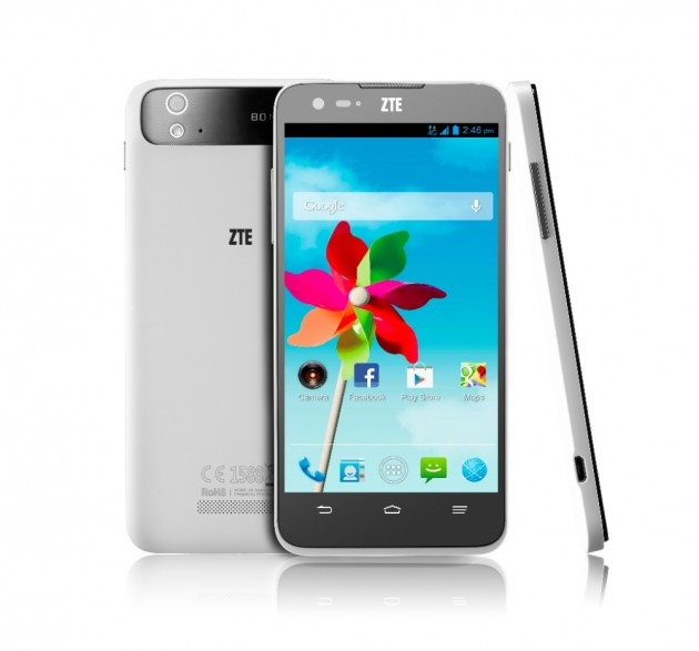 Android Smartphone ZTE Grand S Flex Front & Back Shot FR EU 00