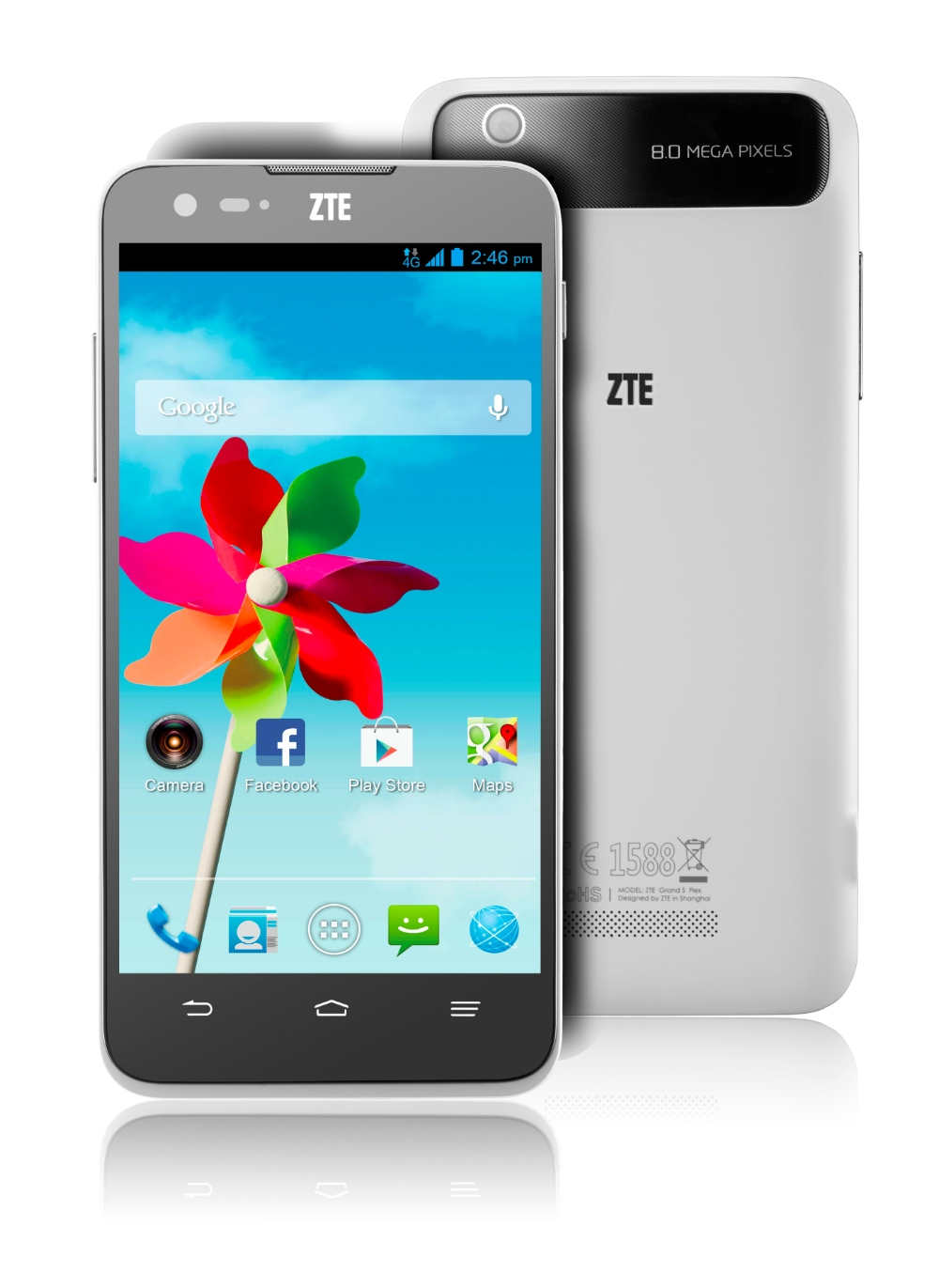 Android Smartphone ZTE Grand S Flex Front & Back Shot FR EU