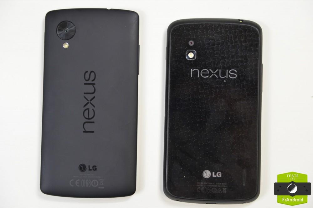 Nexus 5 et Nexus 4