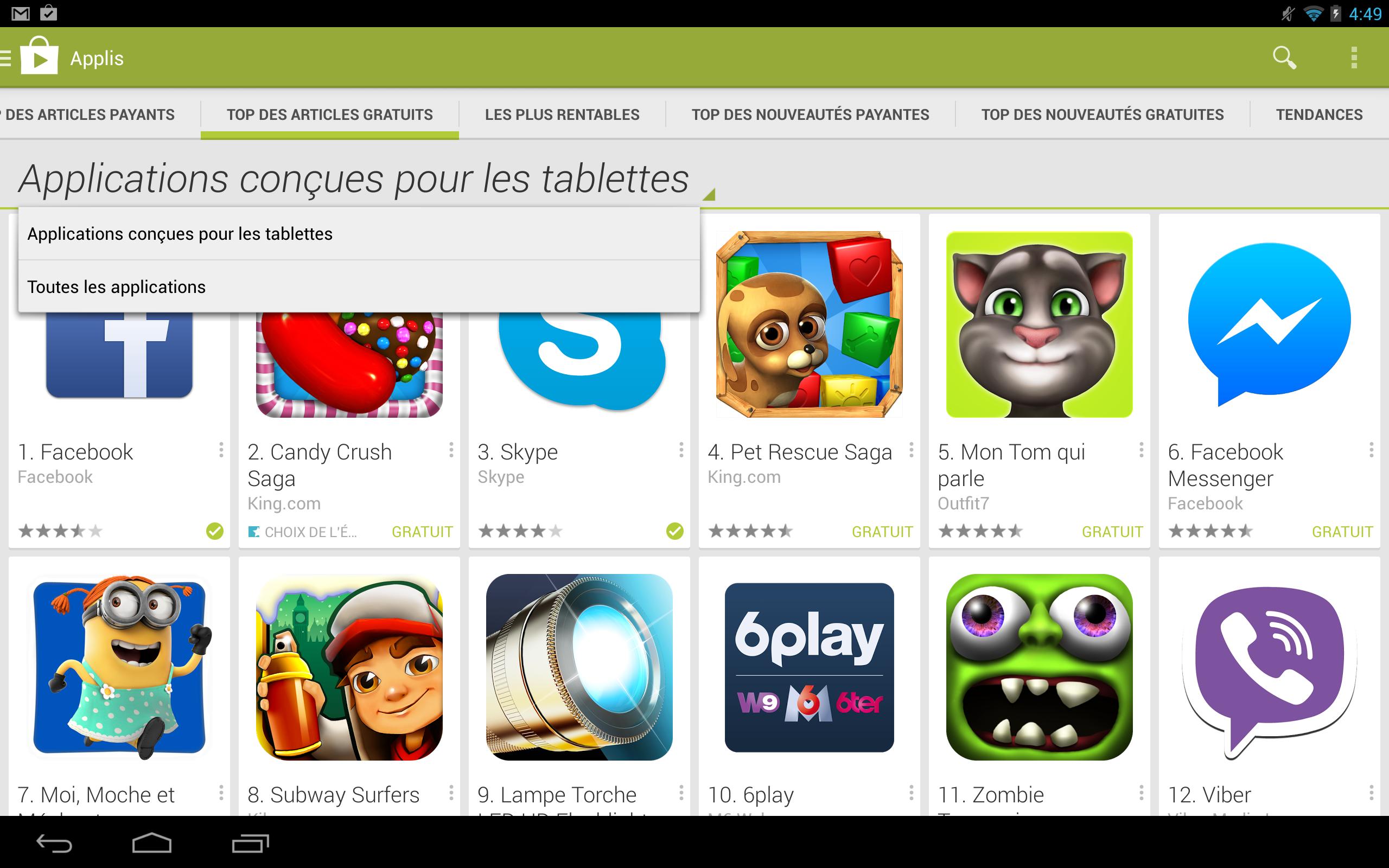Play store telecharger gratuit pour tablette
