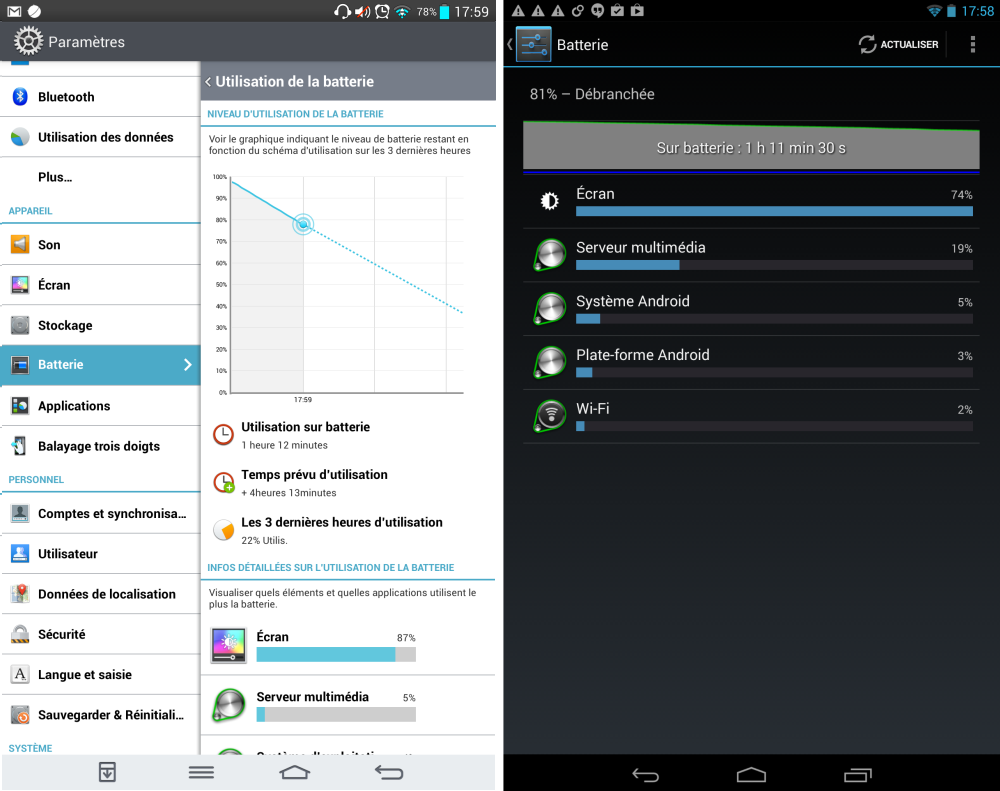android lg g pad 8.3 vs google asus nexus 7 2013 battery batterie autonomie 01