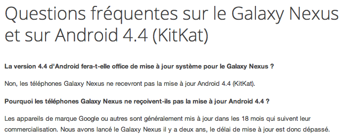 android 4.4 google samsung galaxy nexus denied annulé non 00