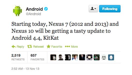 android 4.4 kitkat google nexus 7 google nexus 10 image 0