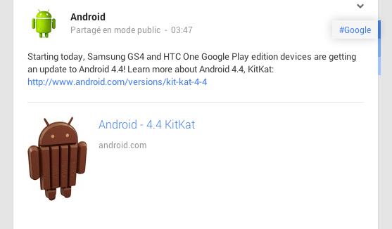 android 4.4 kitkat htc one samsung galaxy s4 google play edition gpe