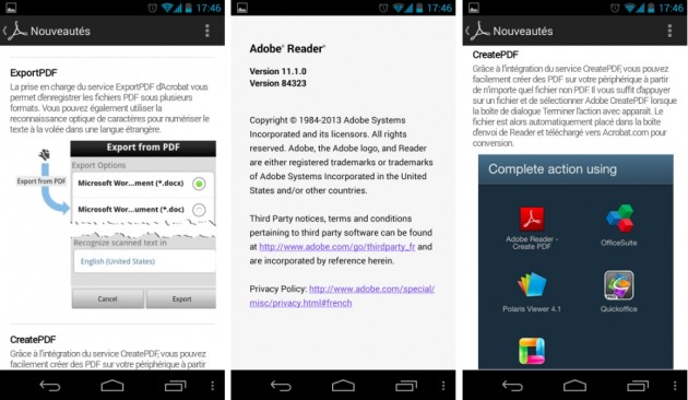 android adobe reader 11.1.0 images 0