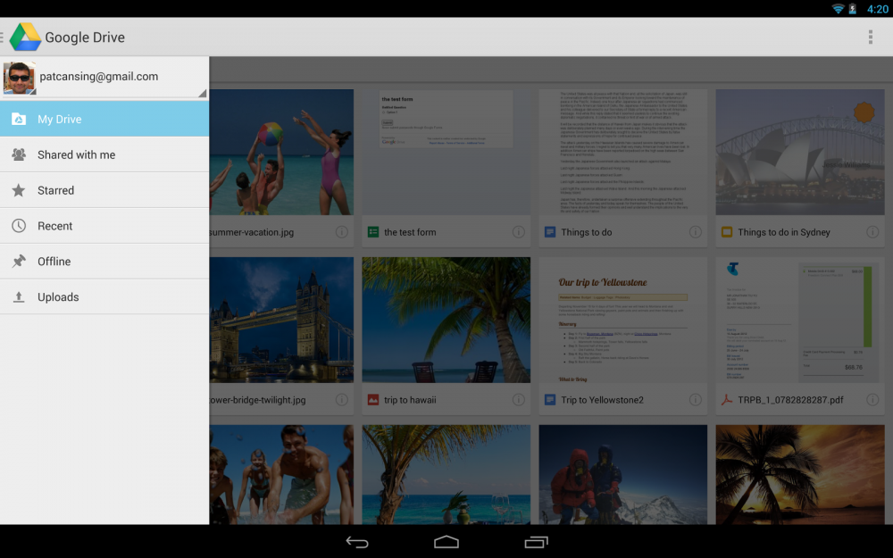 android google drive 1.2.461.14