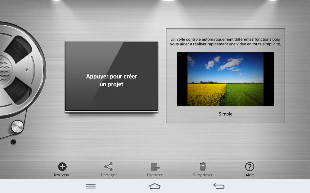 android lg g pad 8.3 éditeur video