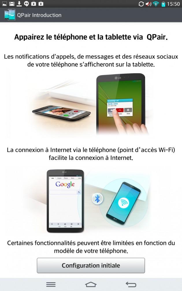 android lg g pad 8.3 qpair
