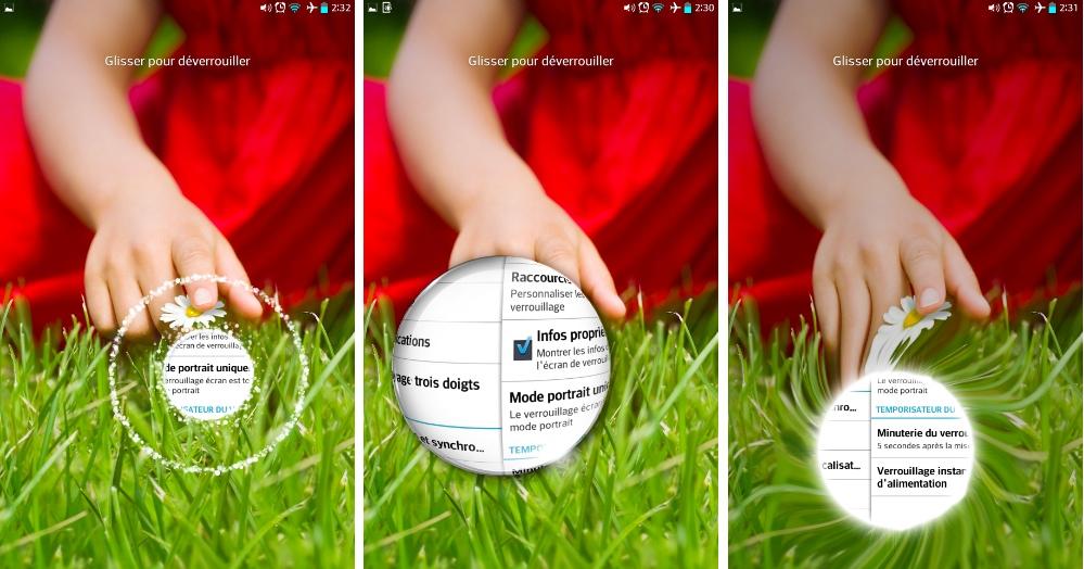 android lg g pad 8.3 thème deverouillage écran