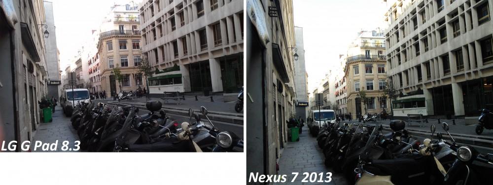 android lg g pad 8.3 vs nexus 7 2013 appareil photo caméra dorsale extérieur test 2