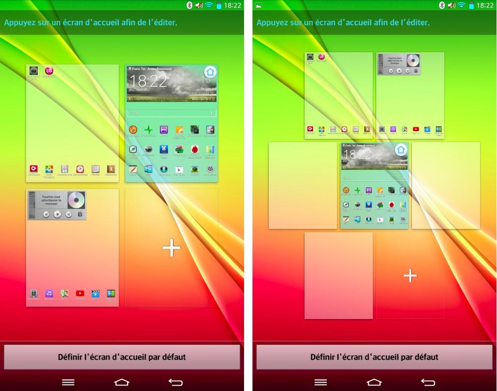 android lg g pad personnalisation écran accueil