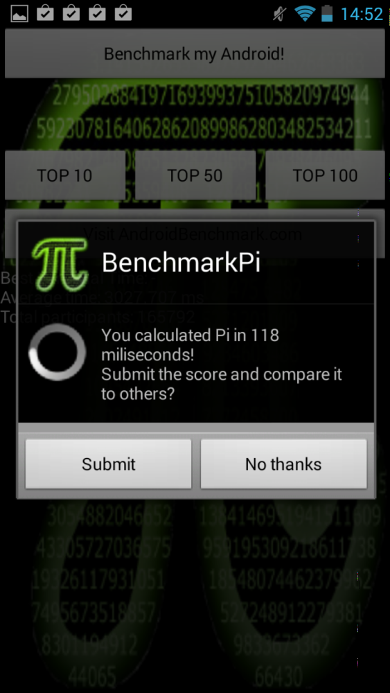 android nvidia shield (project shield) benchmarkpi image 1
