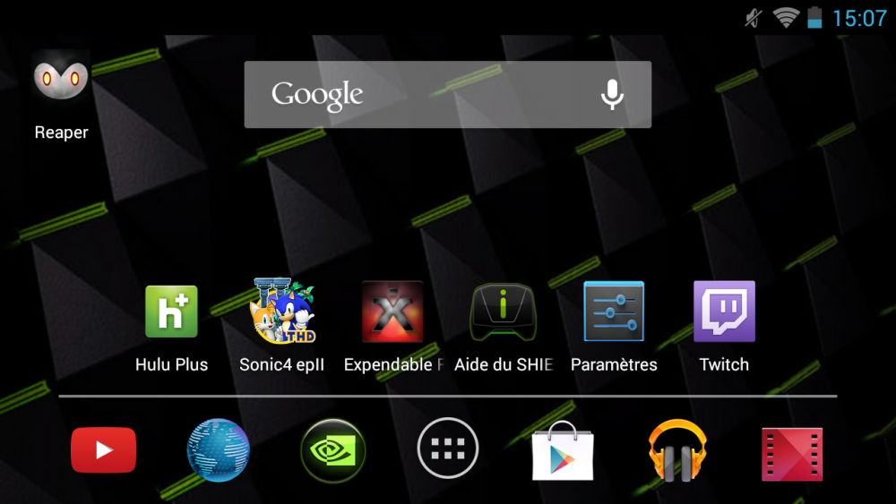 android nvidia shield (project shield) page d'accueil images 1