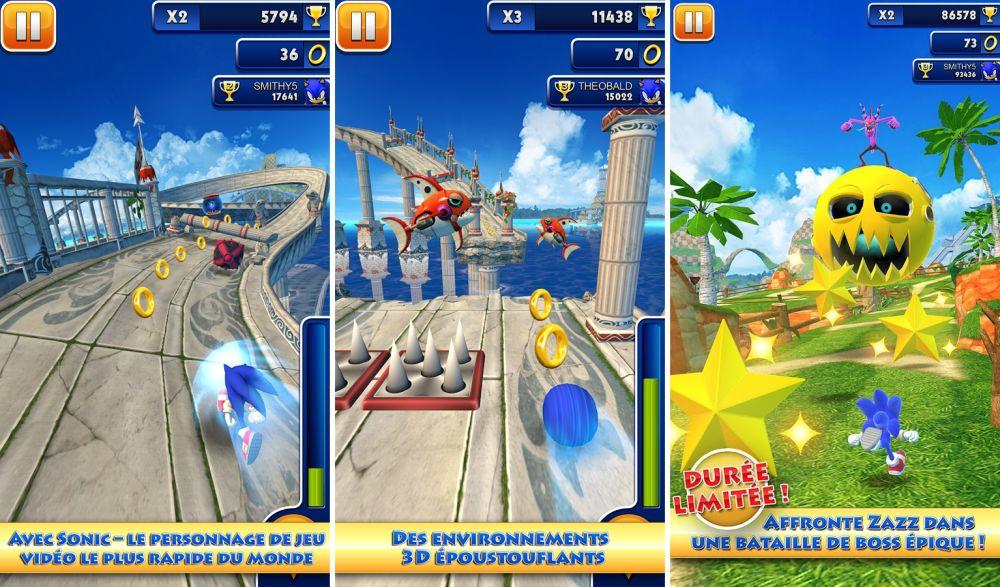 Sonic dash le nouvel opus de sega disponible gratuitement - Sonic gratuit ...