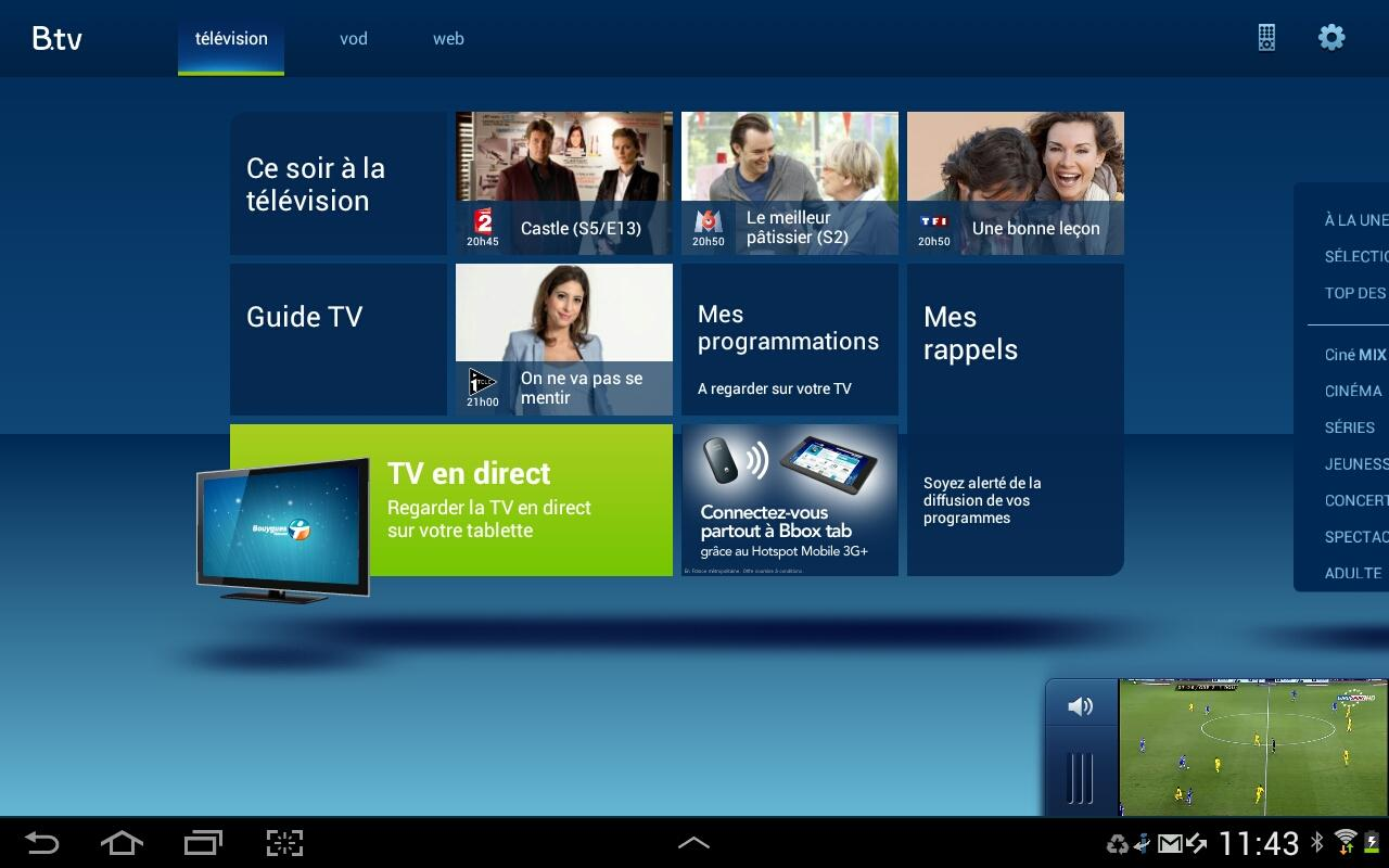 application play tv pour android