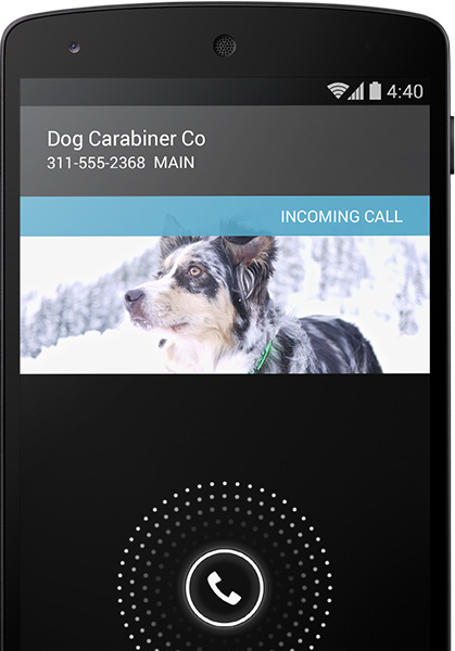 google android 4.4 kitkat smart caller id callid