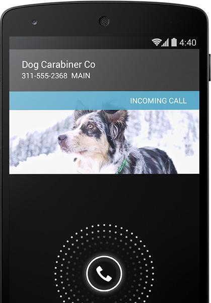 google android 4.4 kitkat smart caller id callid
