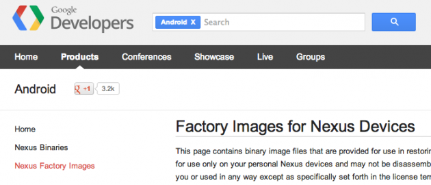 drivers pilotes image de restauration android 4.4 kitkat krt16m google nexus 5