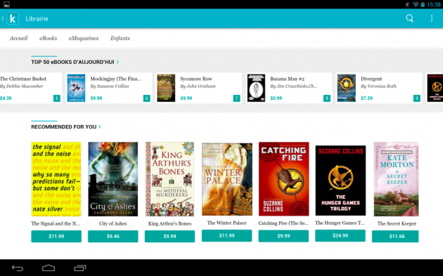 frandroid 4.2.2 jelly bean kobo arc 10 hd kobo by fnac 01