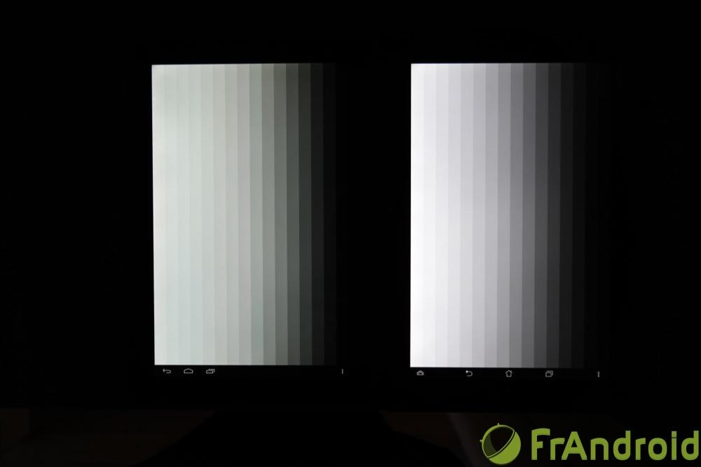 frandroid kobo arc 10 hd qualité écran dégradés