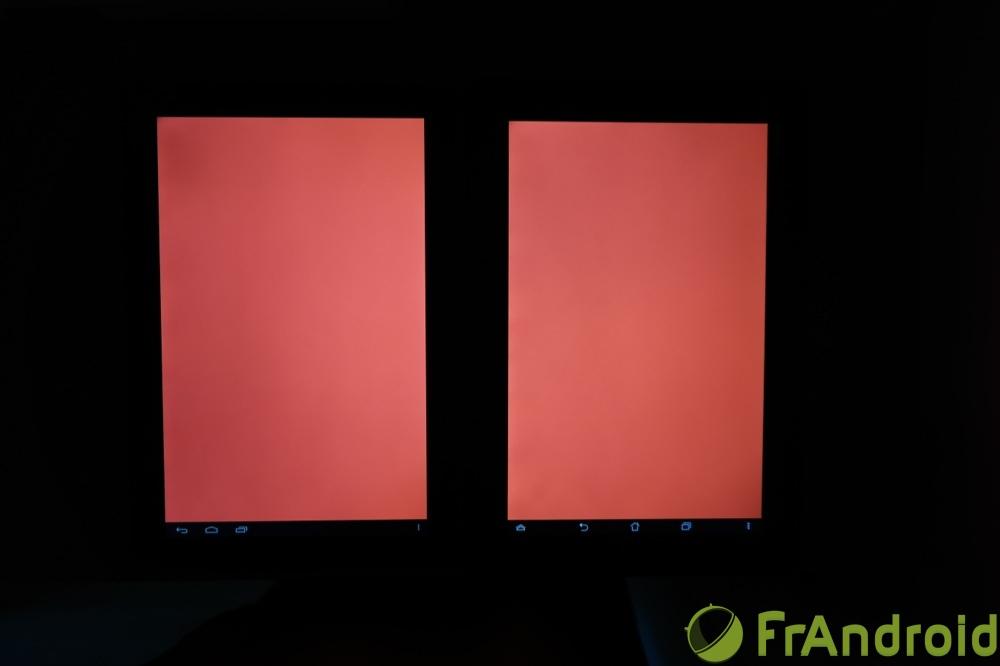 frandroid kobo arc 10 hd qualité écran rouge