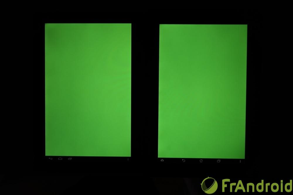 frandroid kobo arc 10 hd qualité écran vert