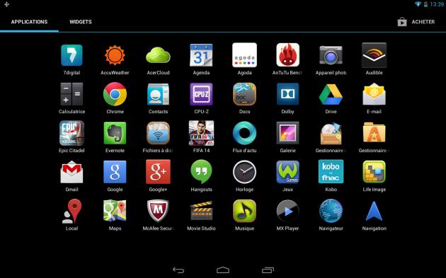 Test de la iconia a3 a10 d 39 acer la tablette en retard frandroid - Telecharger open office gratuit pour tablette android ...
