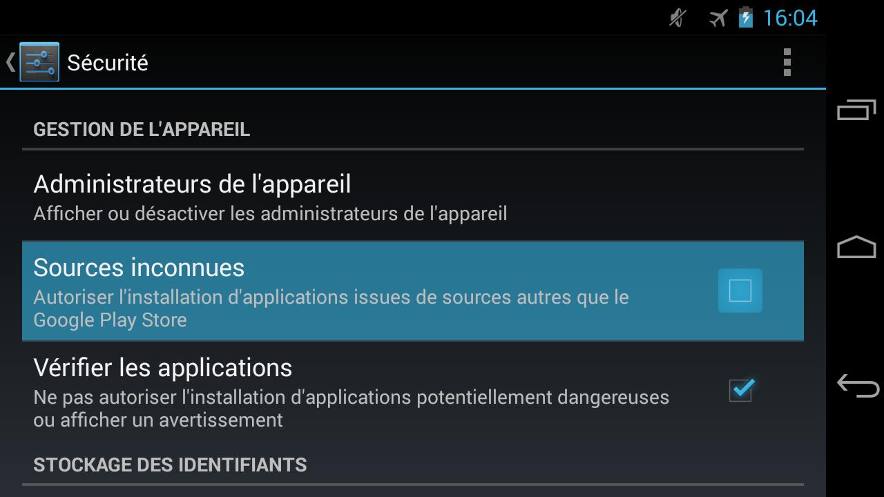 comment installer apk sur tablette