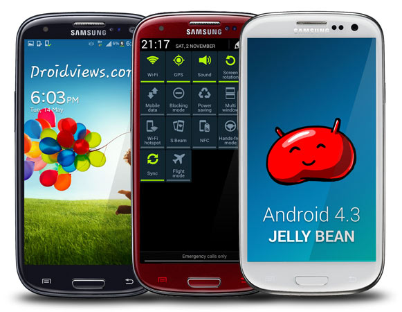 android 4.3 jelly bean samsung galaxy s3 decembre december 2013 ota update mise à jour