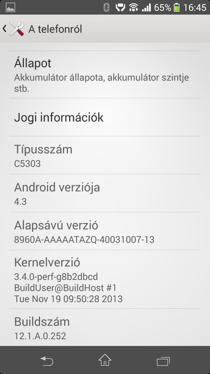 android 4.3 jelly bean sony xperia sp c5303 image 0